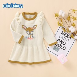 Mimixiong 100% Cotton Baby Knitted Girl Dress 82W860