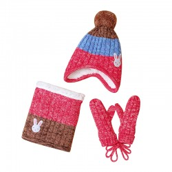 Mimixiong Baby Knitted Hat Scarf Gloves Set 82W243