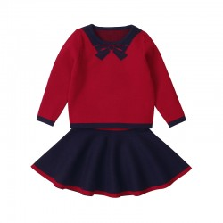 Mimixiong Children Baby Knitted 2pc Girl Dress Set 82W279
