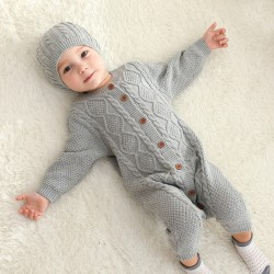 100% Cotton Mimixiong Baby Knitted 2pc Clothing Set 82W393