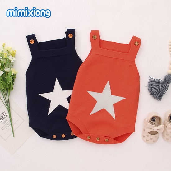 100% Cotton Baby Knitted Sleeveless Romper 82W405