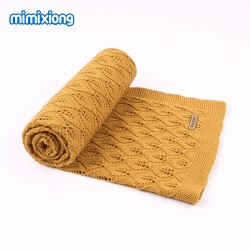 Mimixiong 100% Cotton Baby Knitted Blankets 82W513
