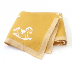 Mimixiong 100% Cotton Baby Knitted Blankets 82W599