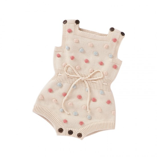 100% Cotton Baby Knitted Sleeveless Romper 82W622