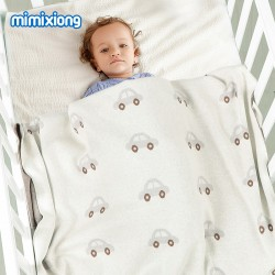 Mimixiong 100% Cotton Baby Knitted Blankets 82W725