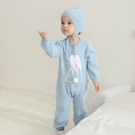 100% Cotton Mimixiong Baby Knitted 2pc Clothing Set 82W806