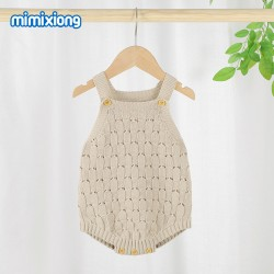 100% Cotton Baby Knitted Sleeveless Romper 82W816
