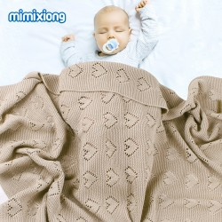 Mimixiong 100% Cotton Baby Knitted Blankets 82W515