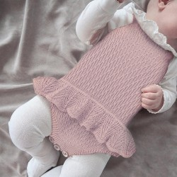 100% Cotton Baby Knitted Sleeveless Romper 82W706