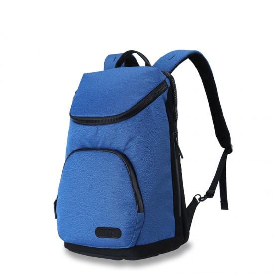 Blue business backpack