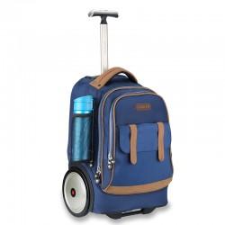 Classic blue big wheel trolley bag