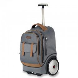 Classic grey big wheel trolley bag