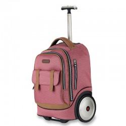 Classic pink big wheel trolley bag